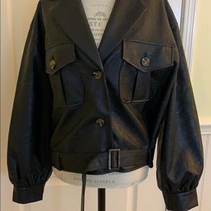 Who What Wear faux leather jacket - size Large